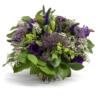 Purple round bouquet