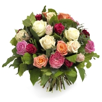 Mixed bouquet of roses